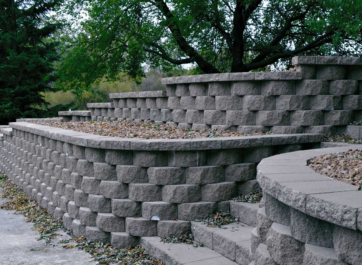 Quality retaining wall block by londonstone Cinder block retaining wall